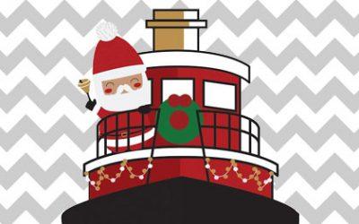 Santa Arrives by Tugboat & Holiday Lighted Boat Parade